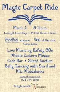 Magic Carpet Ride—Party to benefit Salem Athenaeum