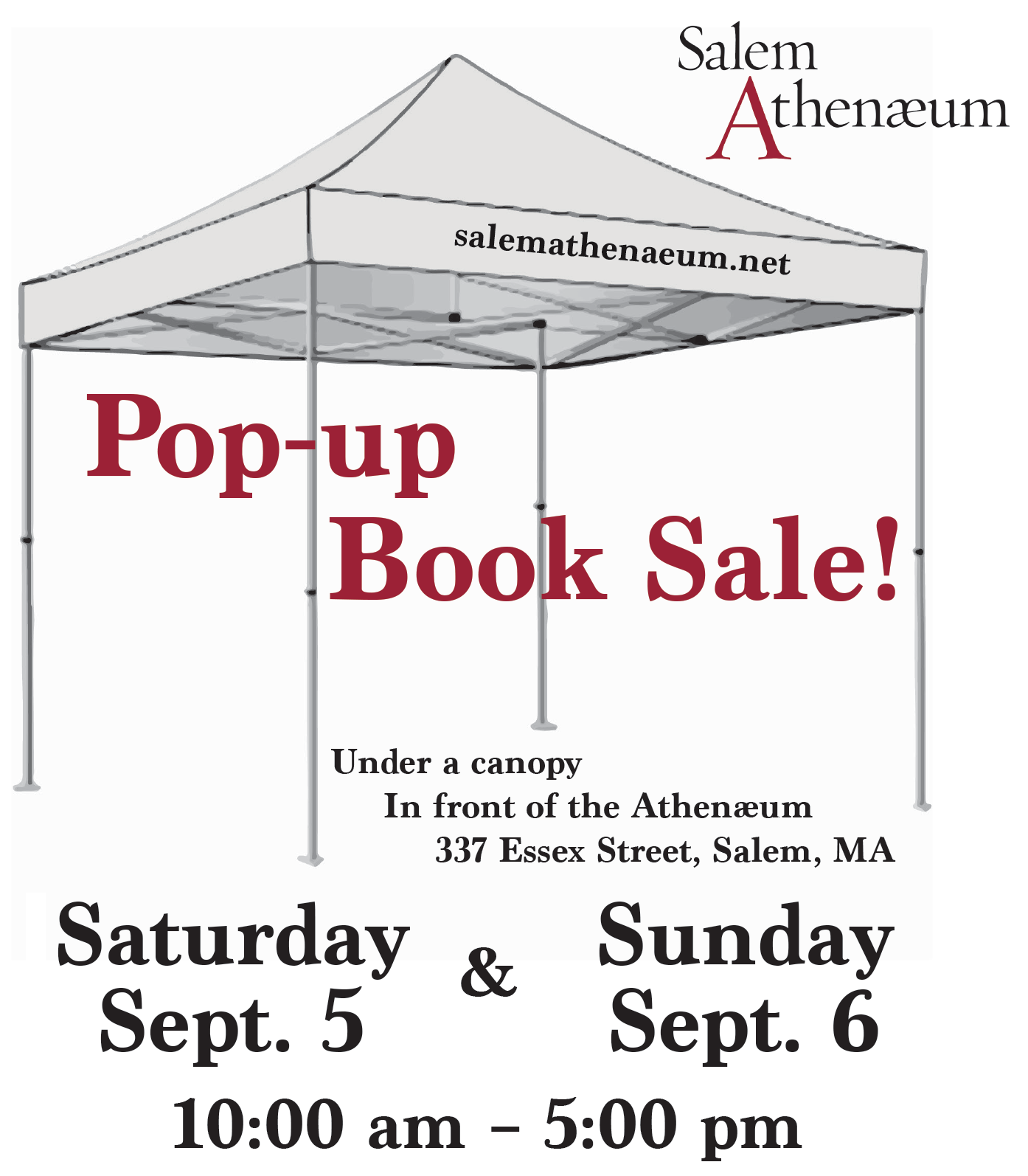 Pop-up Book Sale! @ Salem Athenaeum